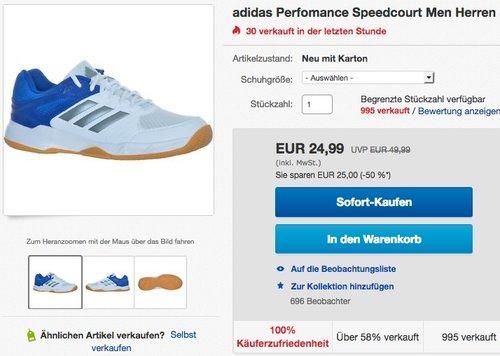 adidas Herren Speedcourt M Handballschuhe - jetzt 17% billiger