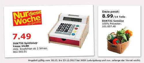 IKEA DUKTIG Spielzeugkasse - jetzt 47% billiger