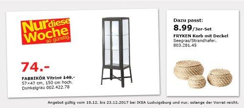 IKEA FABRIKÖR Vitrine - jetzt 50% billiger