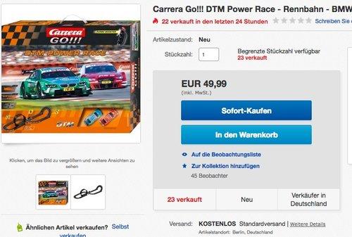 Carrera Go!!! DTM Power Race - jetzt 17% billiger