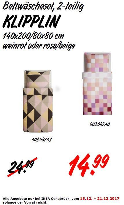 IKEA KLIPPLIN Bettwäscheset - jetzt 40% billiger