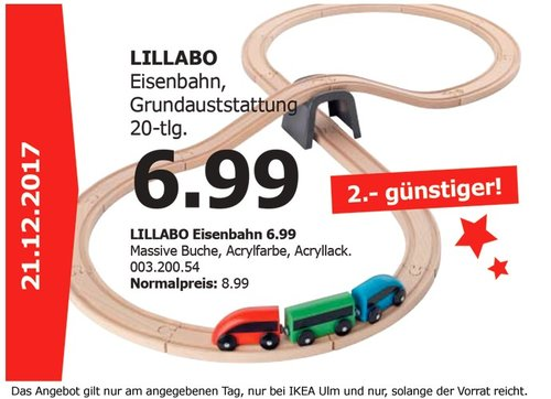 IKEA LILLABO Eisenbahn - jetzt 22% billiger
