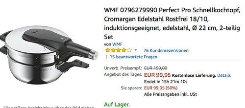 WMF 0796279990 Perfect Pro Schnellkochtopf 2-teilig Set  - jetzt 23% billiger