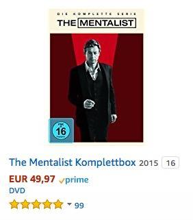 The Mentalist Komplettbox DVD-Box - jetzt 29% billiger