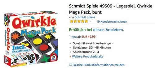 Schmidt Spiele 49309 Qwirkle Mega Pack - jetzt 26% billiger