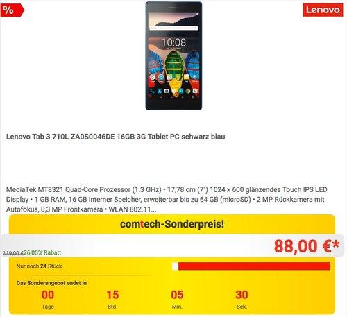 Lenovo Tab 3 710L ZA0S0046DE 16GB 3G Tablet PC - jetzt 11% billiger