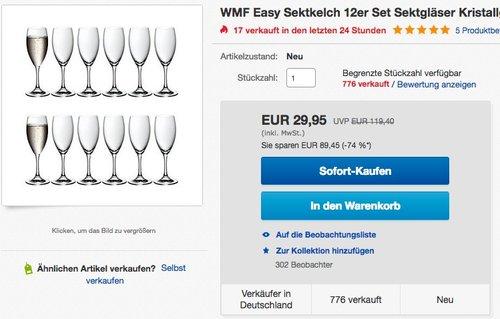 WMF Easy Sektkelch Set - jetzt 49% billiger