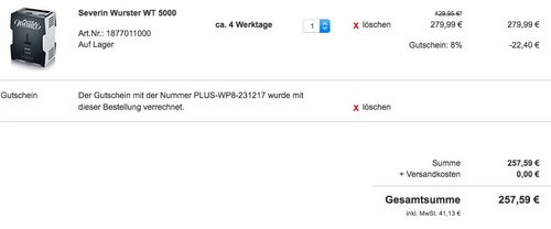 Severin Wurster WT 5000 - jetzt 11% billiger