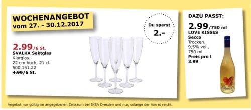 IKEA SVALKA Sektglas 6 St. - jetzt 40% billiger