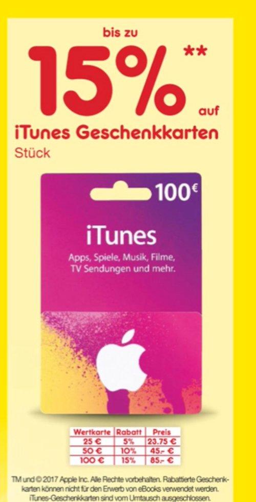 Netto Marken-Discount: bis zu 15 Prozent Rabatt auf iTunes -Geschenkkarten - jetzt 15% billiger