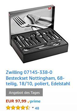 Zwilling 07145-338-0 Besteckset Nottingham - jetzt 23% billiger