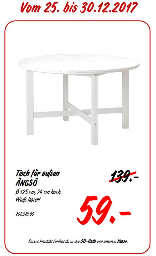 IKEA ÄNGSÖ Tisch - jetzt 58% billiger