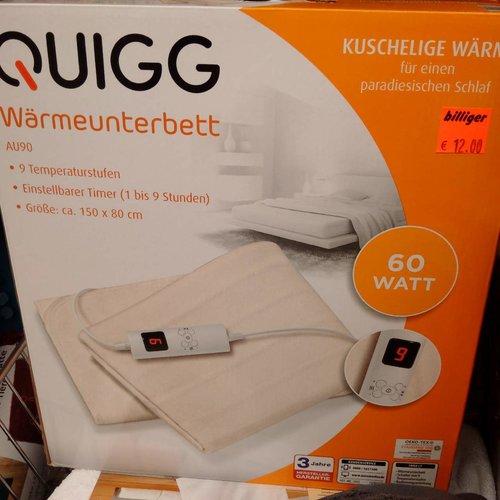 QUIGG Wärmeunterbett  - jetzt 33% billiger