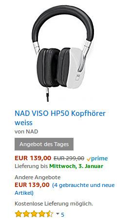 NAD VISO HP50 Kopfhörer - jetzt 44% billiger