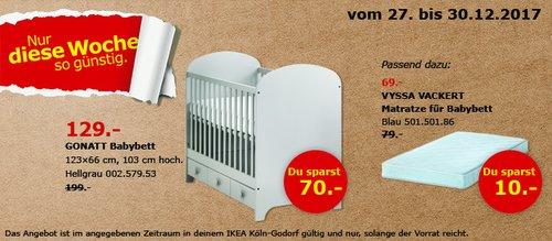 IKEA GONATT Babybett - jetzt 35% billiger