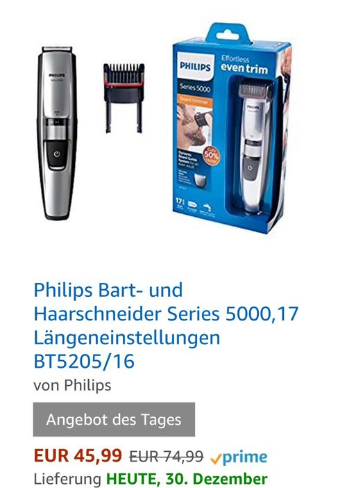 Philips BT5205/16 Bartschneider - jetzt 11% billiger