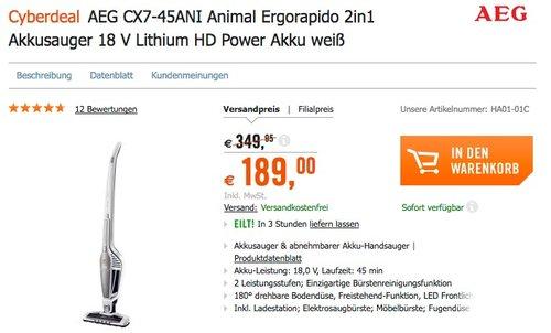 AEG CX7-45ANI Handstaubsauger - jetzt 12% billiger