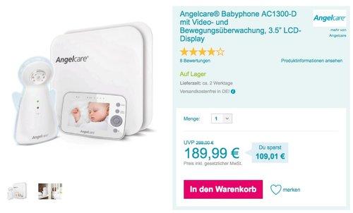 Angelcare® Babyphone AC1300-D - jetzt 21% billiger