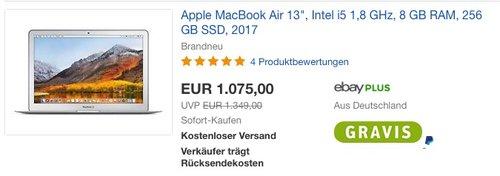 Apple MacBook Air 13 Zoll MQD42D/A - jetzt 8% billiger