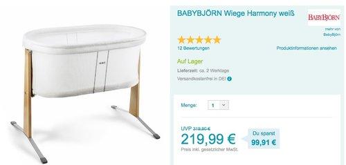 BABYBJÖRN Wiege Harmony - jetzt 15% billiger