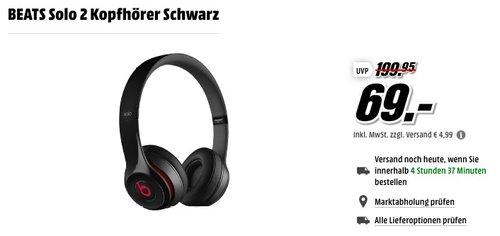 BEATS Solo 2 Kopfhörer Schwarz - jetzt 45% billiger