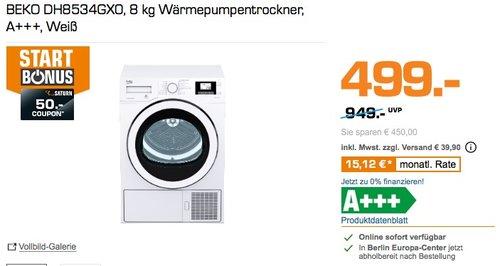 BEKO DH8534GX0 8 kg Wärmepumpentrockner - jetzt 7% billiger