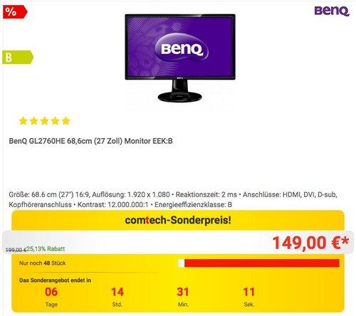 BenQ GL2760HE 68,6cm (27 Zoll) Monitor - jetzt 17% billiger