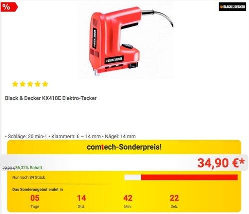 Black & Decker Elektro-Tacker - jetzt 15% billiger