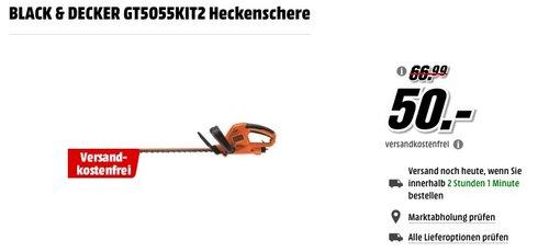 BLACK & DECKER GT5055KIT2 Heckenschere  - jetzt 25% billiger