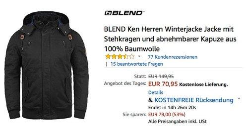 BLEND Ken Herren Winterjacke - jetzt 18% billiger
