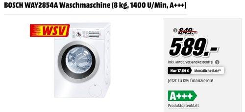 BOSCH WAY2854A Waschmaschine - jetzt 16% billiger