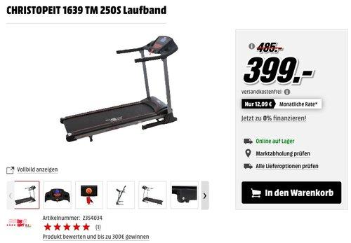 CHRISTOPEIT 1639 TM 250S Laufband - jetzt 24% billiger