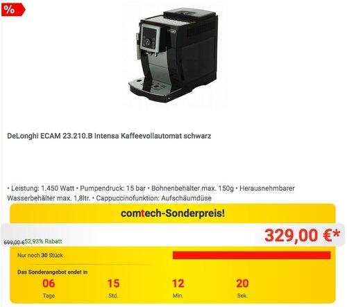 De'Longhi ECAM 23.210.B Kaffeevollautomat  - jetzt 11% billiger