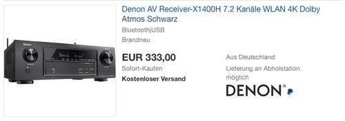 Denon AV Receiver-X1400H 7.2 - jetzt 17% billiger