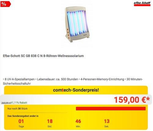 Efbe-Schott 8-Röhren-Wellnesssolarium - jetzt 26% billiger