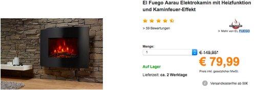 El Fuego Elektrokamin Aarau - jetzt 27% billiger