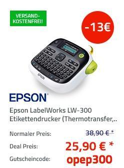 Epson LabelWorks LW-300 Etikettendrucker - jetzt 33% billiger