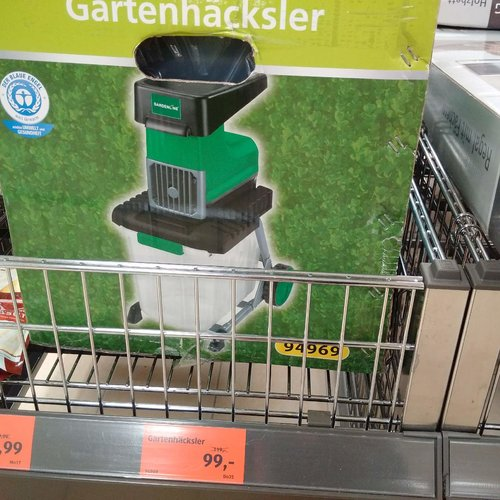 Gardenline Gartenhäcksler - jetzt 17% billiger