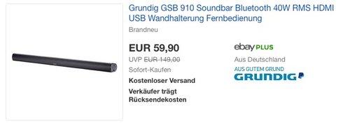 Grundig GSB 910 Soundbar - jetzt 24% billiger