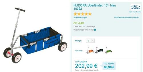 HUDORA Bollerwagen Überländer blau - jetzt 9% billiger