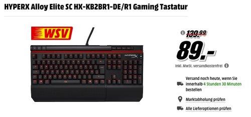 HYPERX Alloy Elite Gaming Tastatur - jetzt 27% billiger