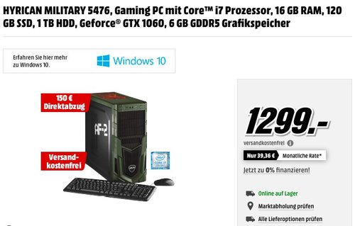 HYRICAN MILITARY 5476 Gaming PC - jetzt 12% billiger