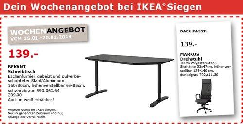 IKEA BEKANT Schreibtisch - jetzt 33% billiger