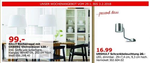 IKEA BILLY Bücherregal mit OXBERG Vitrinentüren - jetzt 23% billiger