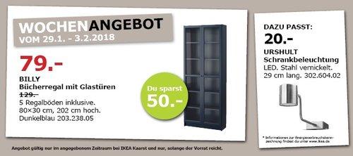 IKEA BILLY Bücherregal mit Glastüren - jetzt 39% billiger