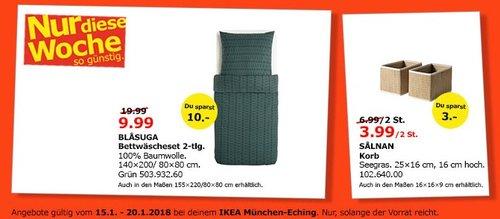 IKEA BLASUGA Bettwäscheset 2-tlg. - jetzt 50% billiger