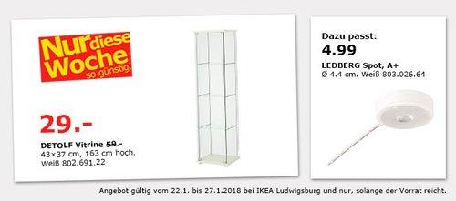 IKEA DETOLF Vitrine - jetzt 51% billiger