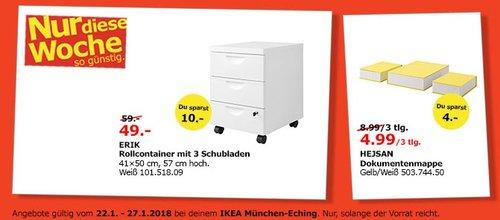 IKEA ERIK Rollcontainer mit 3 Schubladen - jetzt 17% billiger