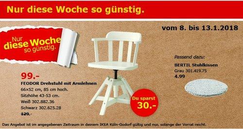IKEA FEODOR Drehstuhl  - jetzt 23% billiger