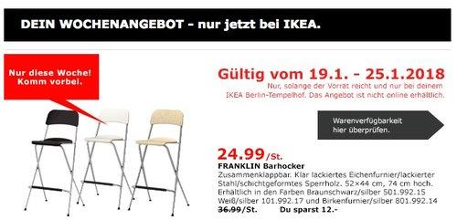IKEA FRANKLIN Barhocker - jetzt 32% billiger